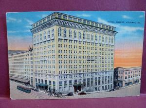 Old postcard  Atlanta GA Hotel Ansley