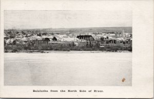 Balclutha New Zealand NZ From North Side of River Unused Postcard E71