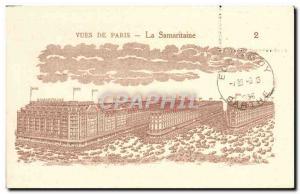 Old Postcard The Paris Samantaine