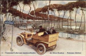 French Automobile Car Auto De Dion-Bouton Puteaux (Seine) Adv c1910 Postcard