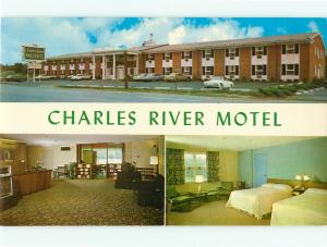 Postcards Charles River Motel Boston Mass # 811A