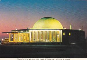 Canada Planetarium At Night Coronation Park Edmonton Alberta