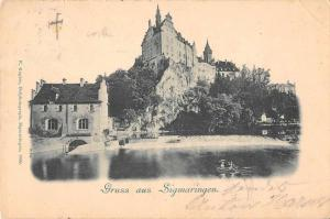 Sigmaringen Germany Castle Scenic View Gruss aus Antique Postcard J46525