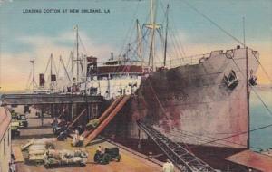 Louisiana New Orleans Levee Scene Loading Cotton