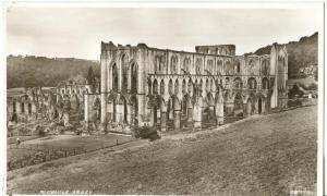 Rievaulx Abbey, old unused real photo Postcard