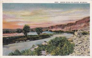 Wyoming Green River Palisades Curteich