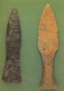 Scandanavian Flint Daggers London Museum Denmark Knife Postcard