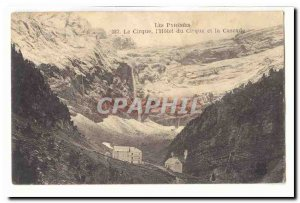 The pyrenees Circus Postcard Old L & # 39hotel Circus and the waterfall