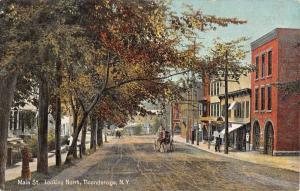 Ticonderoga New York Main Street Scene Historic Bldgs Antique Postcard K73120