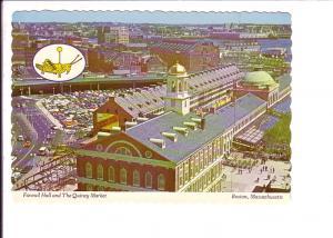 Quincy Market and Faneuil Hall, Boston Massachusetts, Photo Alan Klein, Grass...