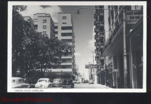 RPPC CARACAS VENEZUELA DOWNTOWN STREET SCENE OLD CARS REAL PHOTO POSTCARD