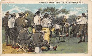 Band Practice Camp Dix, Wrightstown, NJ.,USA Military Band Unused