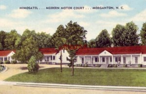 MIMOSATEL - MODERN MOTOR COURT - MORGANTON, NC. foohills of the Blue Ridge Mts