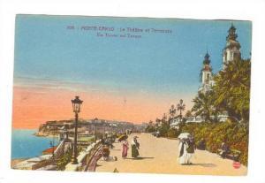 Le Theatre Et Terrasses, The Theater & Terraces, Monte-Carlo, Monaco, 1900-1910s