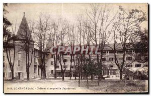 Old Postcard Lompnes (Ain) Chateau d Angeville (frontage is)