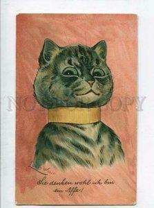 3135527 Dressed CAT Portrait by Louis WAIN vintage color PC