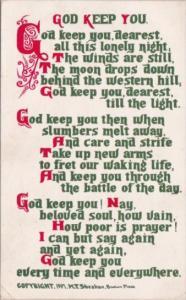 Motto Card God Keep You Sheahan