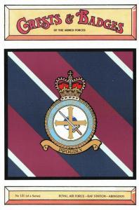 Postcard RAF Royal Air Force Station RAF Station Abingdon Crest Badge No.121 NEW