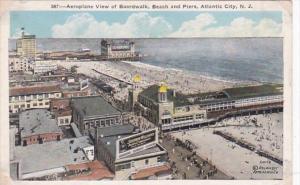New Jersey Atlantic City Aeroplane View Of Boardwalk Beach and Piers