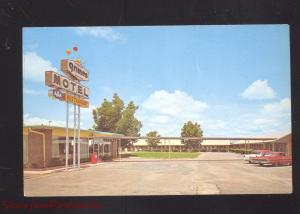 TROY ALABAMA GRIMES MOTEL RESTAURANT 1960's CARS VINTAGE ADVERTISING POSTCARD