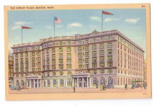 Copley Plaza Hotel Boston MA Vintage Tichnor Linen Postcard