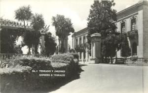 Gardens & Terraces Chapultepec Mexico City Unposted Vintage Rppc Postcard