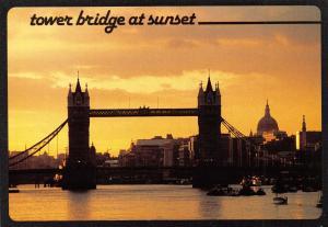 London Postcard, Tower Bridge at Sunset by Thomas Benacci Ltd O77