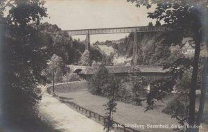 Bazenhaid Bridge Lutisburg Switzerland Antique Postcard