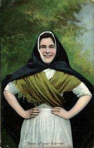 ireland, BLARNEY, None of Your Blarney, Costumes (1909)