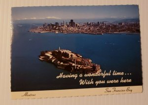 VTG Postcard Alcatraz Island San Francisco Bay California Wish You Were Here 370