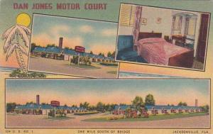 Florida Jacksonville Dan Jones Motor Court One Mile South Of Bridge