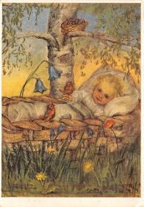BR5687 Child Enfant Painting postcard art