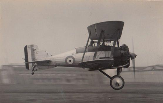 Gloster Gamecock Biplane Military Plane Vintage Real Photo Postcard