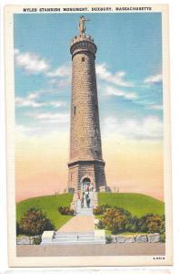 MA Duxbury Myles Standish Monument Vtg Postcard Massachusett
