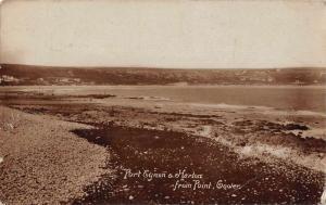 Port Eynon Wales Horton Beach Point Gower Real Photo Antique Postcard J73179