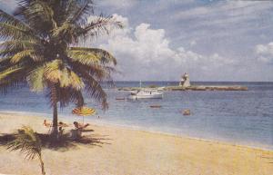Tower Isle Hotel, Jamaica, 50-60s ; Beach & Lighthouse