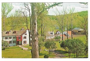 PA Hopewell Village View from Visitor Center Miller Postcard
