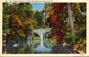 Pennsylvania Philadelphia Fairmount Park Rex Avenue Bridge 1942 Curteich