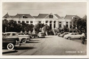 Curacao NWI Municipal Building Boekhandel Salas RPPC Postcard E89