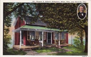 Thomas A Edison's Birthplace Milan Ohio 1946