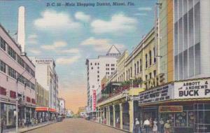 Florida Miami Street Scene Main Shopping District Woolworth Curteich