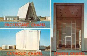 New York City JFK Airport Tri Faith Chapel Multiview Vintage Postcard K103905