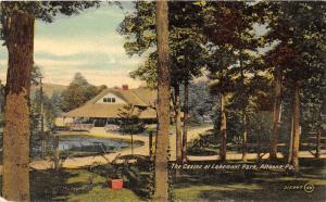 Altoona Pennsylvania~Casino Through Trees~Pond in Front~c1910 Postcard