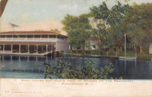 Boat House and Dance Hall Rhodes on the Pawtucket Providence RI Rhode Island UDB