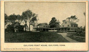 Guilford, Connecticut Postcard GUILFORD POINT HOUSE Panorama View c1910s Unused