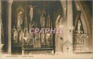 Postcard Folkestone Old Catholic Church
