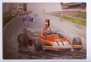 tm6243 - Clay Regazzoni in a Ferrari winning the German G.P. in 1975 - postcard