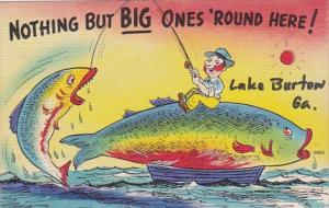 Fishing Humour Nothing But BIg Ones 'Round Here