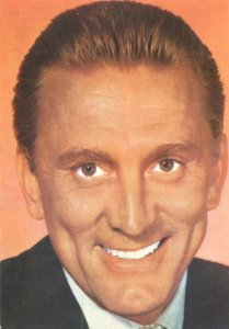 Postcard Actor film star movie man Kirk douglas suit portrait smile