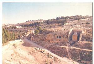 Jerusalem, Kidron Valley, used Postcard